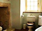 This bathroom is allocated to the Ruthven room and available to the Study bedroom too