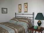 The Boone Room is our master bedroom, with a queen sized bed, and attached full bathroom.