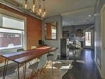 Exposed brick walls create that classic city style.