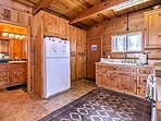 You'll love the rustic ambiance through the cabin.