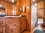 There is 1 bathroom in the cabin.