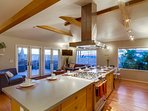 Great open kitchen for entertaining and festive cooking!