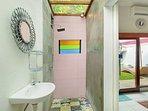 Asian Style Atrium Bathroom