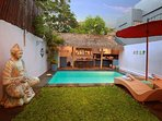 Sun Loungers and Private Pool