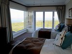 Bedroom 2 - also enjoys fynbos and ocean views