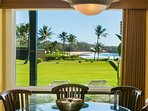 Have dinner inside or out on the Lanai.