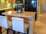 Additional seating for two on kitchen island