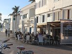 1 of many restaurants and bars set on the promenade - 5 to 10 minute walk away.