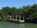 Sea Urchins' private dock is located on the property in protected Safety Harbor.