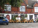The Hare & Hounds. All pubs within walking distance of the house