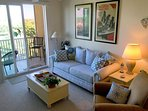 The Living Room with direct walk onto Lanai