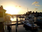 Great sunset view from the Marina/Restaurant...