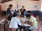 A Dutch volunteer, staying in the casa naranja organized a workshop for teachers of rural schools.