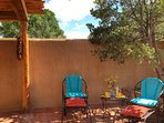 Private patio is great for shade or sun.
