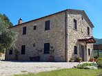 Stone built traditional Umbrian house.