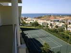 Tennis court overlooking the Ocean