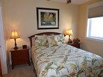 Guest Bedroom Has Comfortable High End Queen As You Enjoy Sounds Of The Ocean