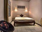 bedroom 1, AC, king size bed, ensuite bathroom