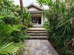 alley to the villa through the garden