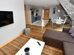 Gîte Milan de 70m² comprenant 2 chambres équipées de lits doubles.