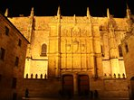 Façade of the University of Salamanca, the oldest in Spain, 10 minutes walking from Plaza Mayor