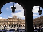 8 minutes away from the Plaza Mayor, walking calmly through the pedestrian zone
