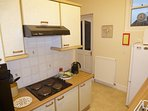 Kitchen with electric hob and oven