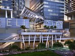 The New Brickell City Center, upscale, plenty of restaurants.