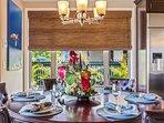 Elegant dining set for eight.