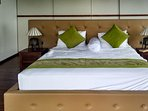 Room 1 King size bed, full ensuite bathroom, AC, dressing, private outdoor sitting