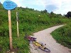 biking to Old town Drežnik and eating wild berries