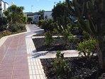 Walk to bungalow in communial gardens