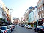Charlotte Street, a few minutes walk away
