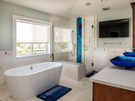 master suite soaking tub and shower