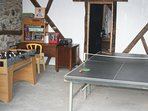 The Games Room. Table tennis, table football and darts