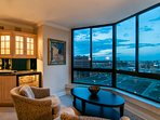 How can you beat captivating views of the gorgeous city and mountains?