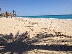 Playa Paraíso, la mas cercana a la casa