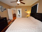 Bedroom, King Sized Bed With Memory Foam Mattress and 20' TV