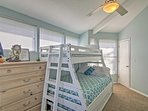 If you're traveling with young kids, this room with a  twin-over-full-sized bunk is the perfect room for them.
