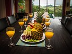 Book a private chef to prepare and serve a gourmet meal right in your villa