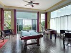 The game room as you enter this contemporary fully air-conditioned luxury villa