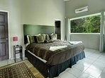 King bedroom with large screen TV and private bath for you to enjoy