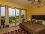 King bedroom in the casita with its own private balcony and view