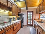 Prepare a delicious treat in this cozy fully stocked  kitchen.