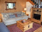 Plenty of comfortable seating for everyone in this cozy living room