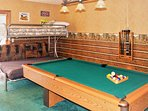 Play a fun game of pool with your companions in the upstairs game room!