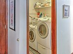 Wash your dirty clothes in the home's laundry machines.