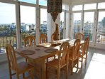 Magnificent views while dining in your Villamartin Plaza Penthouse