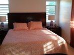 Master Bedroom with Ensuite Bath. Ceiling fan, A/C Closet & Dresser