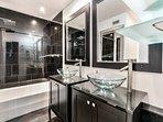 Bathroom 3: with Dual Sinks, Bathtub & Shower